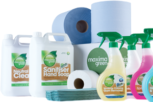 Maxima Green chemical cleaning products range